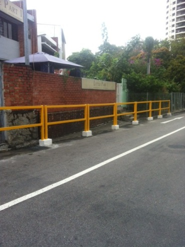 Safety Barricade Reconstruction Work at Thomson Plaza
